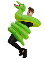 cheap -Snake Cosplay Costume Inflatable Costume Funny Costume Adults' Men's Cosplay Halloween Halloween Festival / Holiday Fabric Green Men's Women's Easy Carnival Costumes
