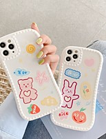 cheap -Case For Apple iPhone 7 8 plus SE 2020 X XS XR XS max  11 11 Pro 11 Pro Max Pattern Back Cover  Cartoon TPU cute LOVELY word phrase bear