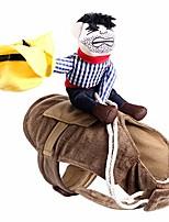 cheap -pet costume dog costume clothes pet outfit suit cowboy rider style,fits
