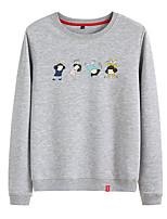 cheap -Women's Sweatshirt Sweatshirt Womens Pullover Sweatshirts Black White Pink Cartoon Person Cartoon Cute Sport Athleisure Pullover Long Sleeve Warm Soft Comfortable Everyday Use Causal Exercising