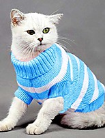 cheap -striped cat sweaters kitty sweater for cats knitwear,small dogs kitten clothes male and female,high stretch,soft,warm & #40;xs, blue& #41;