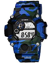 cheap -Men's Digital Watch Digital Modern Style Cool Calendar / date / day Silicone Blue / Red / Brown Digital - Blue Red Green