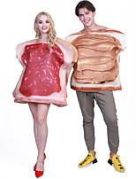 cheap -Breakfast food Cosplay Costume Group Costume Adults' Men's Cosplay Halloween Halloween Festival / Holiday Polyester Red Men's Women's Easy Carnival Costumes / Leotard / Onesie / Leotard / Onesie