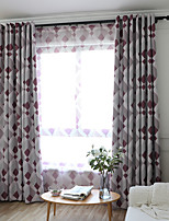 cheap -Two Panel European Classic Style Printed Blackout Curtains Living Room Bedroom Dining Room Curtains