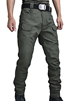 cheap -Men's Hiking Pants Solid Color Summer Outdoor Regular Fit Windproof Breathable Warm Comfortable Bottoms Black Army Green Grey Khaki Hunting Climbing Camping / Hiking / Caving M L XL XXL XXXL