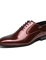 cheap -Men's Spring / Fall Business / Classic / Casual Daily Office & Career Oxfords PU Breathable Non-slipping Wear Proof Black / Red / Brown