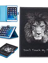 cheap -Case For Apple iPad Mini 3 2 1 iPad Mini 4 iPad Mini 5 Card Holder Shockproof Pattern Full Body Cases Animal PU Leather TPU Auto Sleep Wake Up magnetic buckle lion
