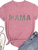 cheap -mama shirt for women funny casual graphic tees summer short sleeve mom life t shirt & #40;pink-leopard, small& #41;