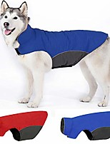 cheap -yiepal waterproof dog jacket fleece lined dog coat for winter warm reflective adjustable cold weather snow rain vest apparel clothes for dog, red, medium