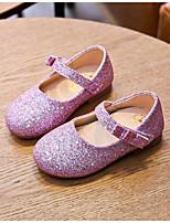cheap -Girls' Flats Comfort PU Sequins Little Kids(4-7ys) Walking Shoes Sequin Black / Pink / Gold Spring / Fall