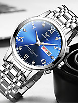 cheap -NEKTOM Men's Sport Watch Quartz Sporty Stylish Casual Water Resistant / Waterproof Stainless Steel Analog - White+Blue Black+Gloden White+Golden