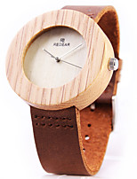 cheap -Women's Quartz Watches Quartz Modern Style Stylish Casual Water Resistant / Waterproof Analog Brown / Genuine Leather / Genuine Leather