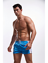 cheap -Men's Swim Shorts Swimwear Breathable Quick Dry Drawstring - Swimming Diving Surfing Patchwork Autumn / Fall Spring Summer / Micro-elastic