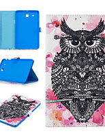 cheap -Case For Samsung Galaxy Tab E T560 Card Holder Shockproof Pattern Full Body Cases animal PU Leather TPU magnetic buckle owl