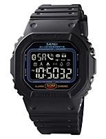 cheap -SKMEI Men's Digital Watch Digital Outdoor Calendar / date / day PU Leather Black / Blue / Green Digital - Black Blue Purple