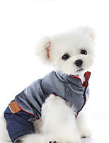 cheap -Dog Coat Jumpsuit Solid Colored Casual / Daily Cute Casual / Daily Winter Dog Clothes Warm Pink Gray Costume Plush XS S M L XL