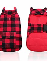 cheap -dog winter clothes plaid reversible jackets for small medium large dogs windproof warm vest pets cold weather coats with pockets