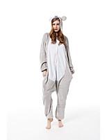 cheap -Adults' Kigurumi Pajamas Koala Onesie Pajamas Flannelette White+Gray Cosplay For Men and Women Animal Sleepwear Cartoon Festival / Holiday Costumes