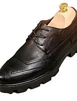 cheap -Men's Spring / Fall Daily Outdoor Oxfords Pigskin Black