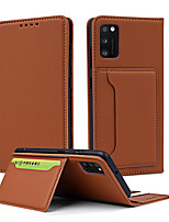 cheap -Case For Samsung Galaxy A11 M11 A21 A31 A41 A51 A51(5G) A71 A71(5G) A81 A91 M60S M80S Note10 lite S10 lite Card Holder Shockproof Magnetic Full Body Cases Solid Colored PU Leather TPU