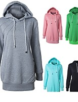 cheap -Women's Womens Hoodie Hoodies Pullover Hoody Blue Pink Minimalist Hoodie Fleece Solid Color Sport Athleisure Pullover Long Sleeve Warm Soft Comfortable Everyday Use Exercising General Use