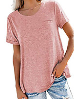 cheap -women& #39;s oversized lightweight boyfriend short sleeve t-shirts round neck soft stretch tunic tops tee teens pink xxl