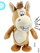 cheap -Electric Toys Stuffed Animal Plush Toy Donkey Gift Singing Dancing Repeats What You Say Interactive PP Plush Imaginative Play, Stocking, Great Birthday Gifts Party Favor Supplies Boys and Girls Kid's