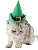 cheap -Dog Cat Bandanas & Hats Christmas Cute Cool Christmas Party Dog Clothes Breathable Green Costume Polyster