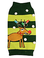 cheap -ugly holiday sweater for pets, green christmas tree, x-small