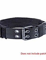 cheap -military dog collar adjustable nylon k9 tactical dog collar with d-ring & buckle collars for medium large dogs (black)