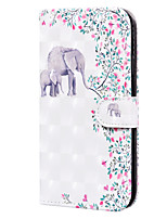 cheap -Case For SonyXperia L4 Card Holder Flip  Pattern Full Body Cases Animal PU Leather