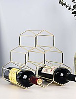 cheap -14 bottle countertop wave wine rack table top bottle holder wine stand storage display organizer free standing liquor rack wooden for red white wine