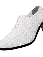 cheap -Men's Spring / Fall Party & Evening Office & Career Oxfords PU White / Black