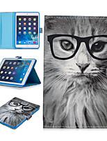 cheap -Case For Apple iPad Mini 3/2/1 / iPad Mini 4 / iPad Mini 5 Card Holder / Shockproof / Pattern Full Body Cases Animal PU Leather / TPU