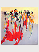cheap -Hand-Painted Abstract People Painting Canvas Art Painting Abstract Acrylic Painting Modern Art Textured Art with Stretcher Ready to Hang With Stretched Frame