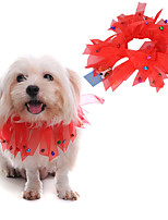 cheap -Dog Bandanas & Hats Solid Colored Casual / Daily Cute Christmas Party Dog Clothes Breathable Red Costume Polyster S M L / Halloween