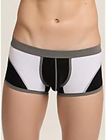 cheap -Men's Basic Boxers Underwear - Normal Low Waist White Black Blue M L XL