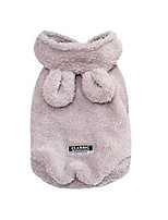 cheap -pet sweater,jhkuno pet bunny ears hooded sweater plush villus warm clothes puppy doggy apparel dogs cold weather coats gray