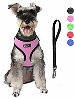 cheap -dog harness with car safety seat belt, adjustable breathable air mesh puppy vest harness for x- small/small/medium/large dogs & cats(pink)