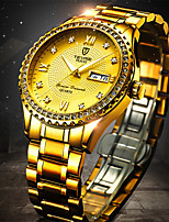 cheap -Tevise Men's Steel Band Watches Quartz Formal Style Modern Style Luxury Water Resistant / Waterproof Analog Black / Silver Black+Gloden Golden+Silver / Stainless Steel / Noctilucent