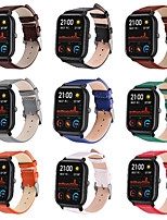 cheap -Watch Band for Amazfit GTS Amazfit Leather Loop Genuine Leather Wrist Strap