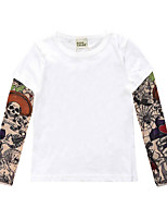 cheap -Kids Boys' Basic Solid Colored Print Long Sleeve Blouse White