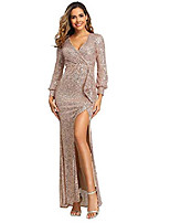 cheap -stretch sequins mermaid evening gowns/for women wedding party gold