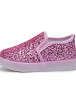 cheap -girls' light up sequins shoes slip-on flashing led casual loafers flat sneakers (toddler/little kid) pink us 11.5m