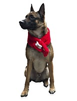 cheap -Dog Cat Dog Scarf Dog Birthday Bandana Hat Solid Colored Casual / Daily Winter Dog Clothes White / Red Red / Green Gray Costume Plush One-Size