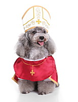 cheap -Dog Halloween Costumes Costume Shirt / T-Shirt Prince Cosplay Cool Christmas Party Dog Clothes Breathable Red Costume Polyester S M L XL