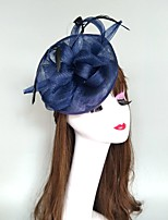 cheap -Feathers / Net Fascinators / Hats / Headpiece with Feather / Cap 1 Piece Party / Evening / Horse Race Headpiece