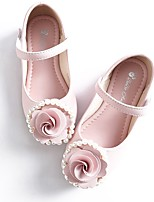 cheap -Girls' Flats Flower Girl Shoes Leather Little Kids(4-7ys) / Big Kids(7years +) Walking Shoes Flower Pink / Beige Spring / Fall