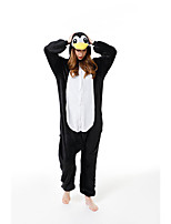 cheap -Adults' Kigurumi Pajamas Bat Onesie Pajamas Flannelette Black / White Cosplay For Men and Women Animal Sleepwear Cartoon Festival / Holiday Costumes