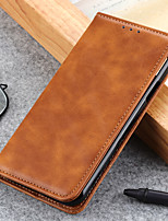 cheap -Case For Sony Sony Xperia 5 Sony Xperia 10 II Xperia L4Sony Xperia 1 II Xperia XZ5 Xperia 5 Card Holder Flip Full Body Cases Solid Colored PU Leather